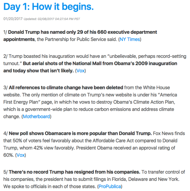 wtf just happened today donald trump resume