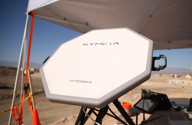 Kymeta mtenna antenna during deployment