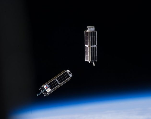 CubeSat deployment in space