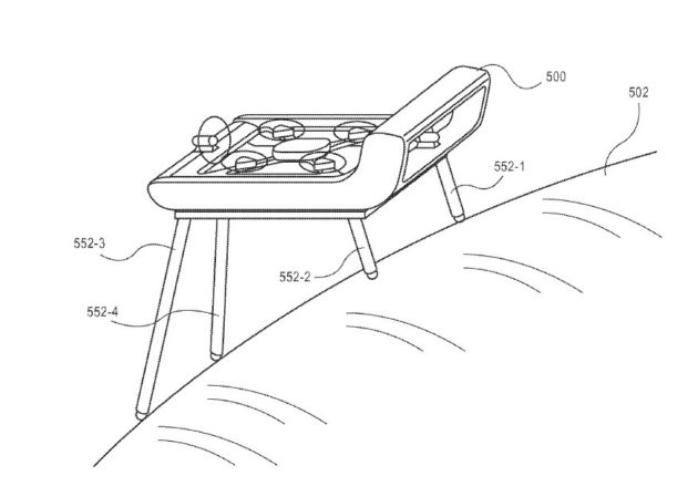 amazon patents drones with telescoping legs and foldable