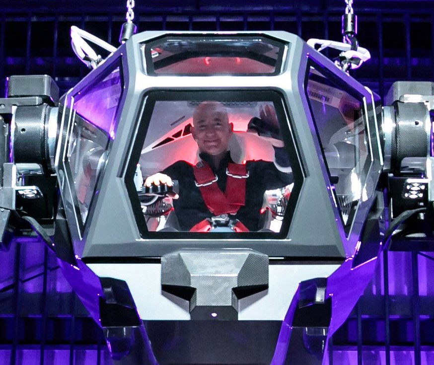 Billionaire Jeff Bezos Pilots A Giant Avatar Robot And Tweets About