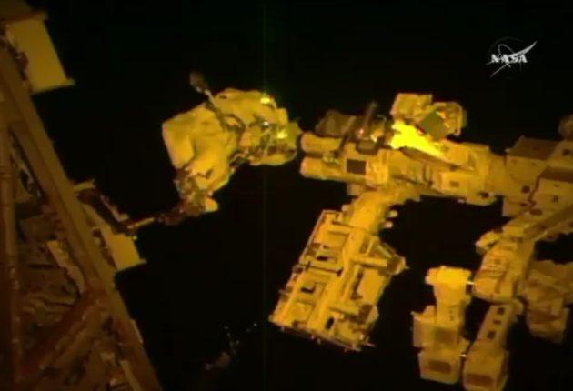 Thomas Pesquet on spacewalk