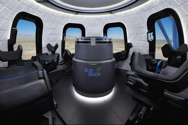 Blue Origin New Shepard interior