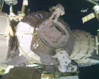 Spacewalkers Whitson and Kimbrough