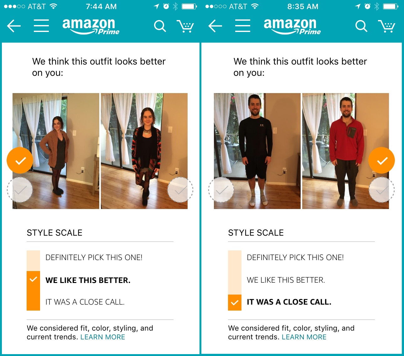 I let Amazon's new 'Outfit Compare' choose my clothes — but I just
