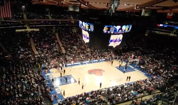 Ny knicks nix music and video during game does nba basketball look and sound better this way Madison square garden basketball
