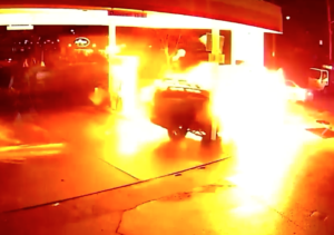 Uber gas crash