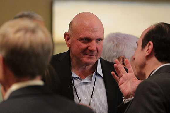 Steve Ballmer at the Microsoft CEO Summit 2013. (Microsoft Photo).