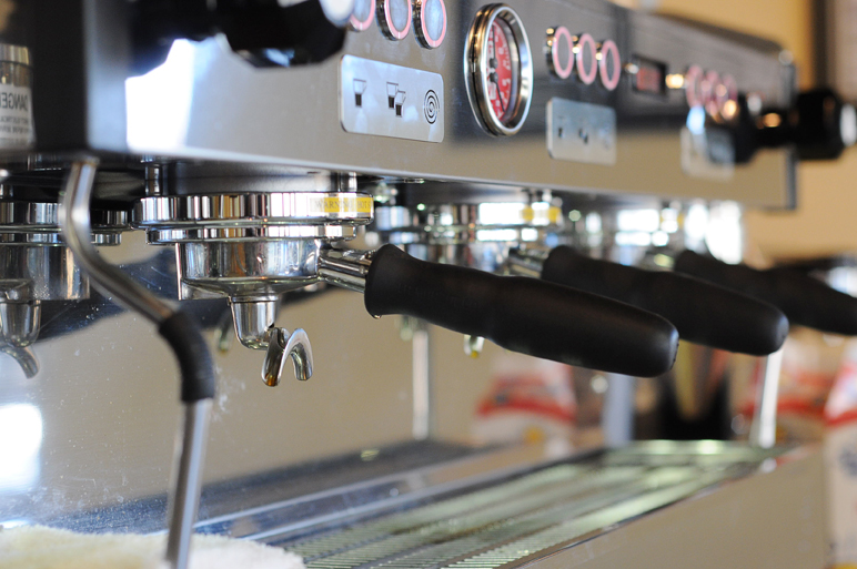 """Adapted from the """"Linea Classic,"""" the Linea PB"""" was unveiled in Boston in April. The machine in Ballard is one of three in the world and is the only one in the United States."""