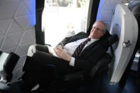 Alan Boyle in Blue Origin New Shepard seat