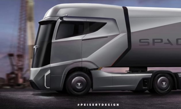 Tesla Semi artist's conception