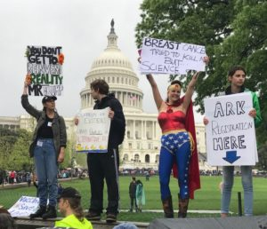 Wonder Woman at March for Science