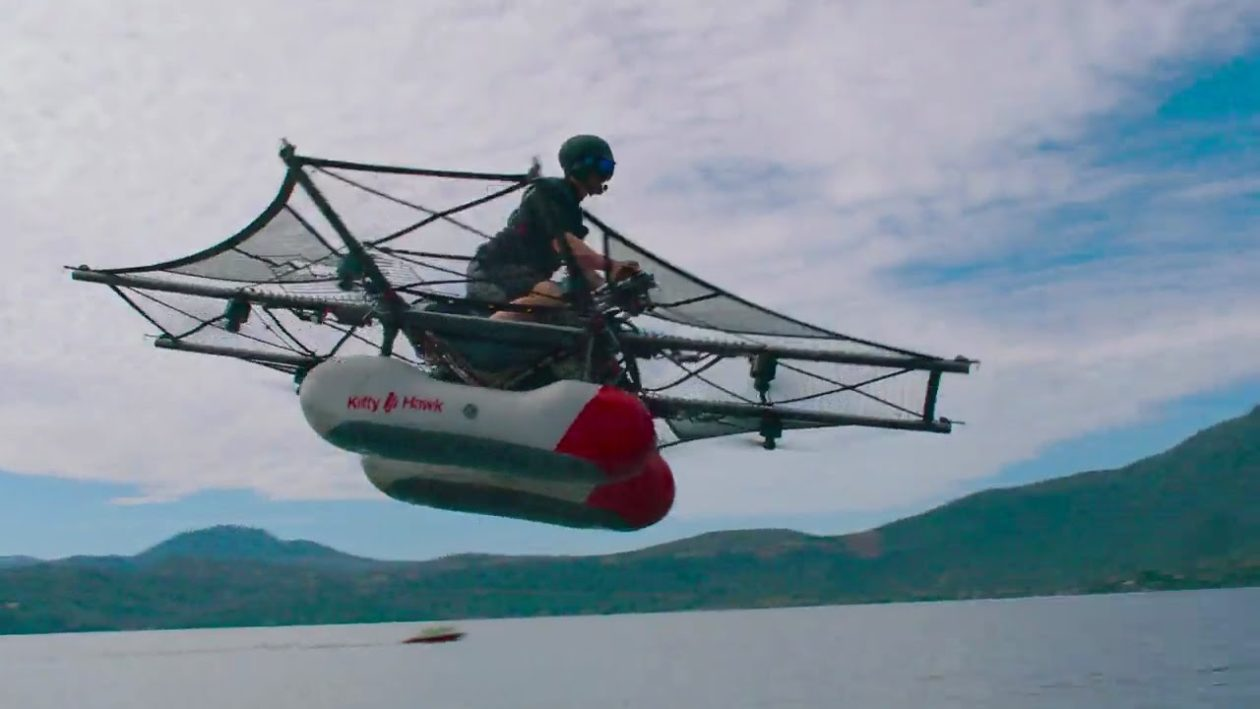 Flying car? Kitty Hawk's first prototype looks more like a