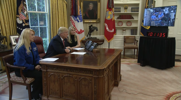 Trump in Oval Office call to ISS