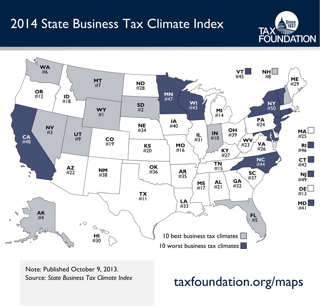 Washington State Sales Tax 2017 >> Business Tax Climate Index Washington 6th Oregon 12th Geekwire