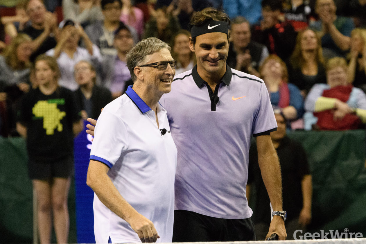 Highlights Roger Federer And Bill Gates Play Tennis Together In Seattle Share A Passion For