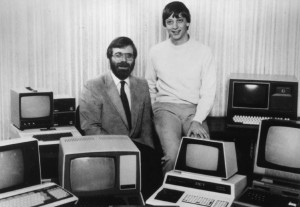 Microsoft co-founders Paul Allen, left, and Bill Gates in 1981.