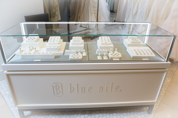 A Blue Nile kiosk in Nordstrom.