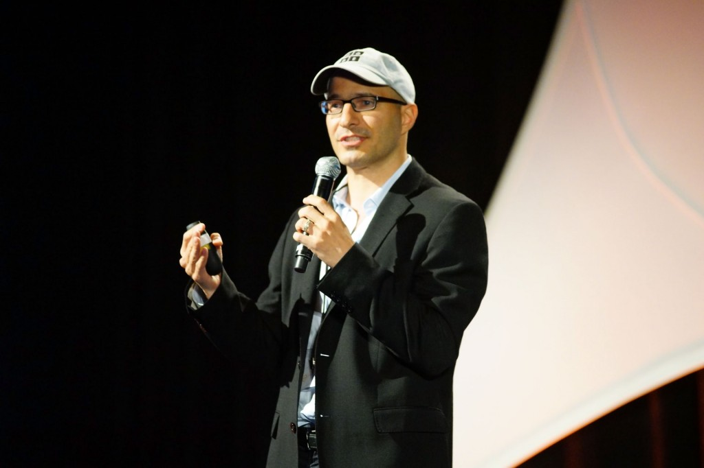 Code.org co-founder Hadi Partovi speaks at the 2013 GeekWire Summit.