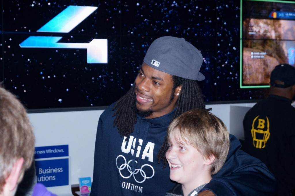 Sherman at Microsoft's Halo 4 launch back in November 2012.