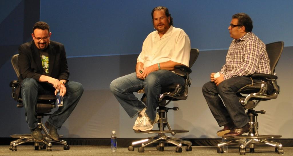 Phil Libin, Marc Benioff and Om Malik