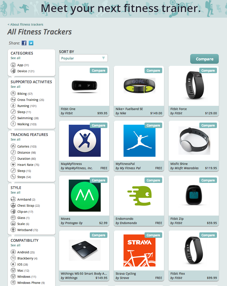 EveryMove Fitness Trackers