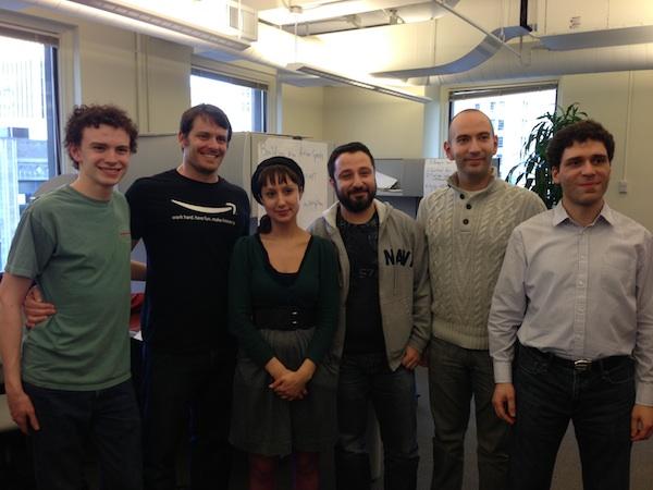 Members of the winning team: Liam Steckler, Paul Steckler, Rebecca Bittner, Dmitry Frenkel, Alex Weinstein, Antoine Atallah