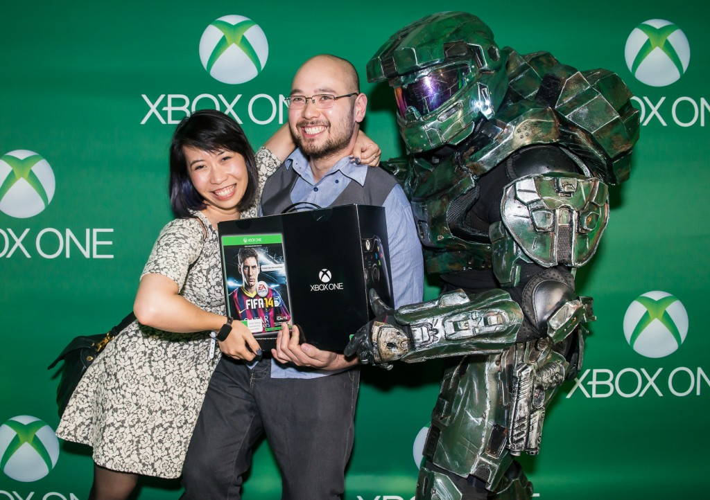 Francis King and Angela Tran_First to receive Xbox One