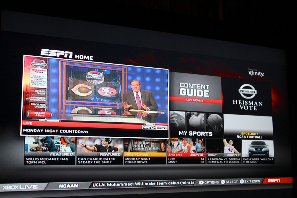 Live Espn Programming Now Available With Xbox Watchespn App Video Demo Geekwire