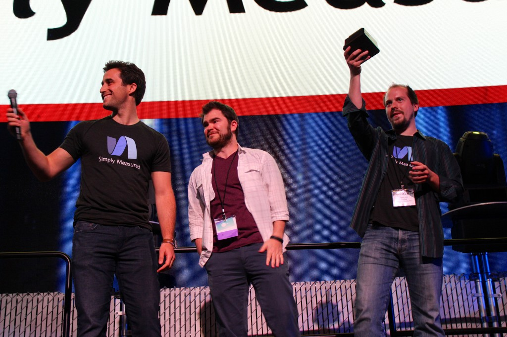 """Simply Measured was the winner of the 2012 """"Startup of the Year"""" at the GeekWire Awards."""