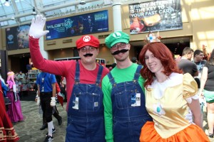 Mario, Luigi and Peach at the 2013 PAX Expo in Seattle.