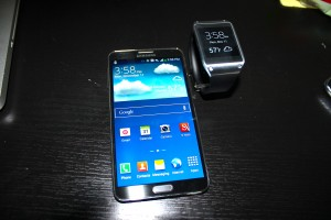 Samsung's Note 3 is only mobile phone compatible with the Galaxy Gear, unfortunately.