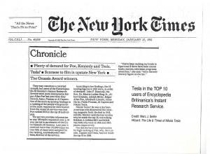 NY Times on Tesla
