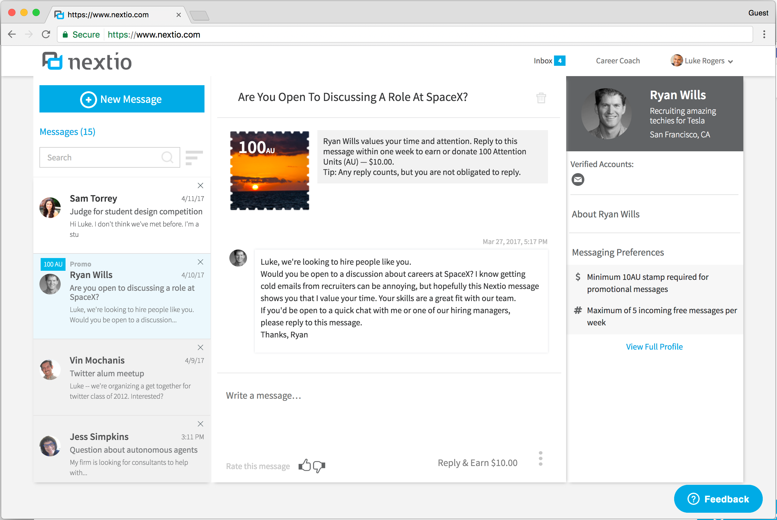Hit reply to get paid: Microsoft vets take on LinkedIn with