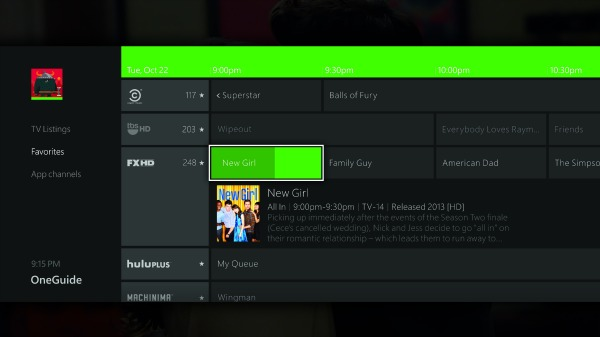 "The ""OneGuide,"" on the Xbox One is designed to easily help you find your favorite shows."