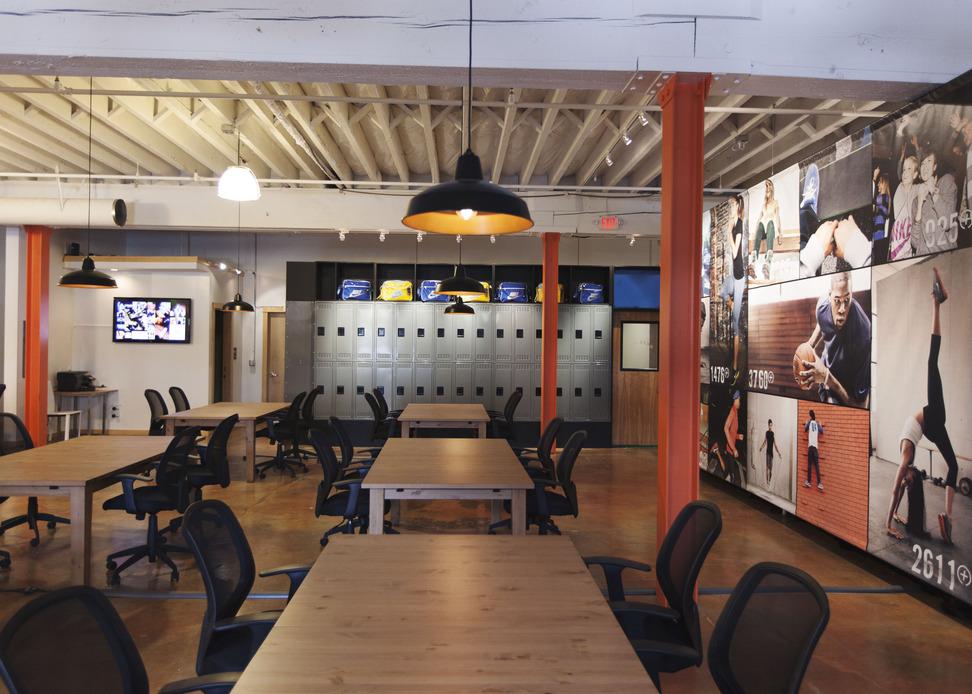 Inside the Nike+ Accelerator office in Portland.