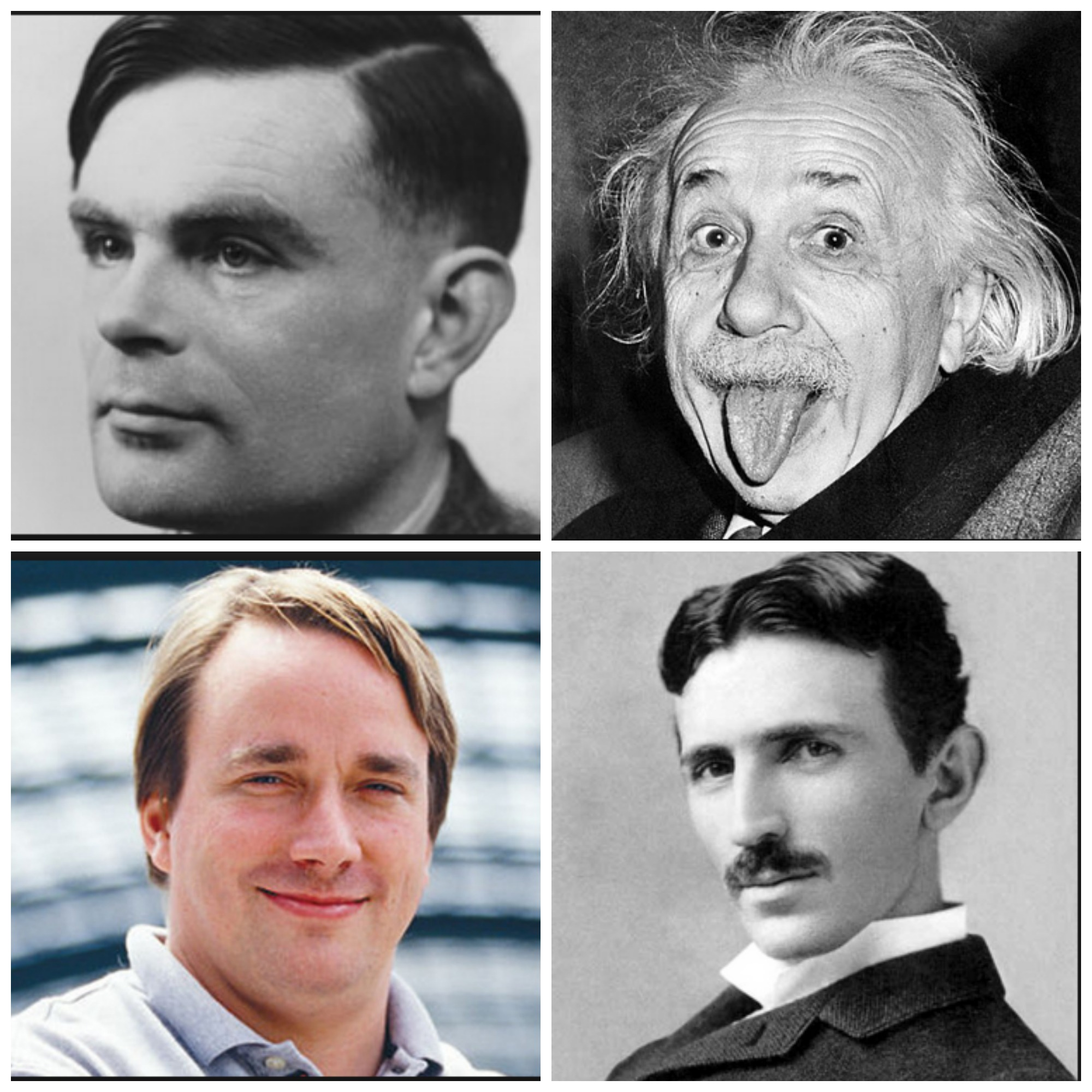 Vote for the Geek Madness Final Four: Turing vs. Torvalds; Einstein vs. Tesla