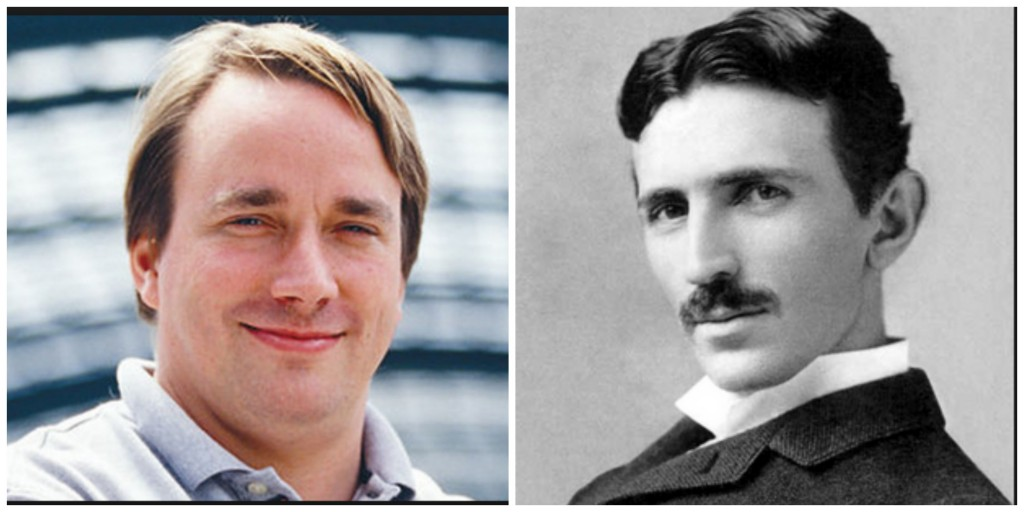 Our Geek Madness Final is set: No. 14 Linus Torvalds vs. No. 2 Nikola Tesla.