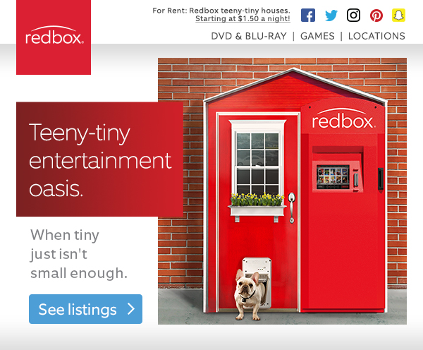 Redbox teeny-tiny house