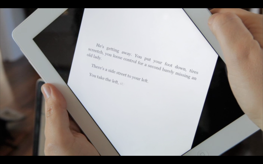 Vidya's ebooks interact with the reader.