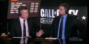 Commentators discussing the latest from the Call of Duty Championships.