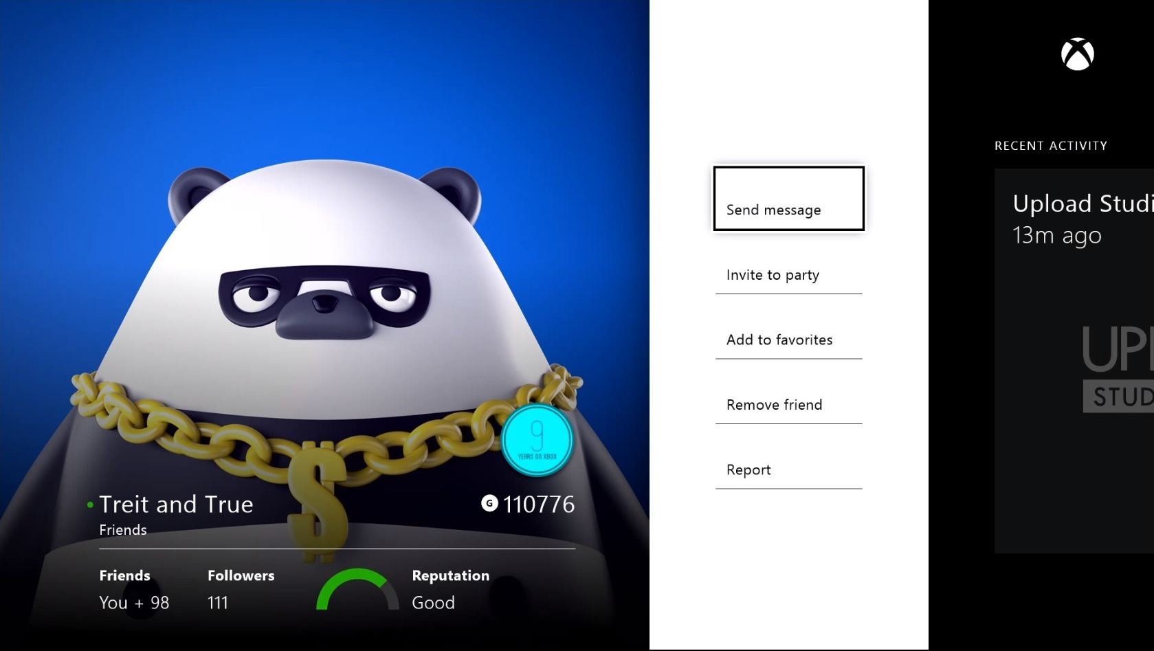Here S What The Xbox One S Friends List Will Look Like Geekwire