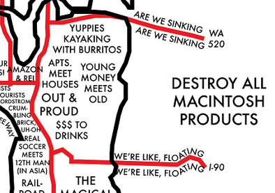 Destroy all Macintosh products and other ways to map the Seattle