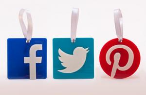 Social media ornaments