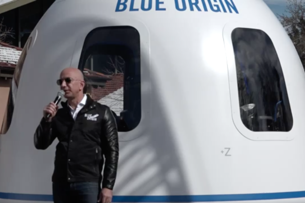 Video Watch Jeff Bezos Lounge In A Spaceship And Take Questions