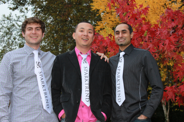 The Sparktrend team: Justin Hamilton, Troy Ma and Tabreez Govani.