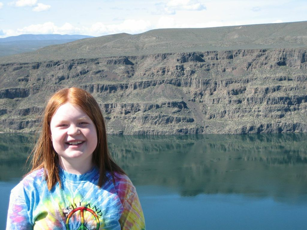 Violet at the Gorge