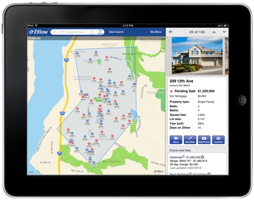Zillow iPad Relaunch - draw