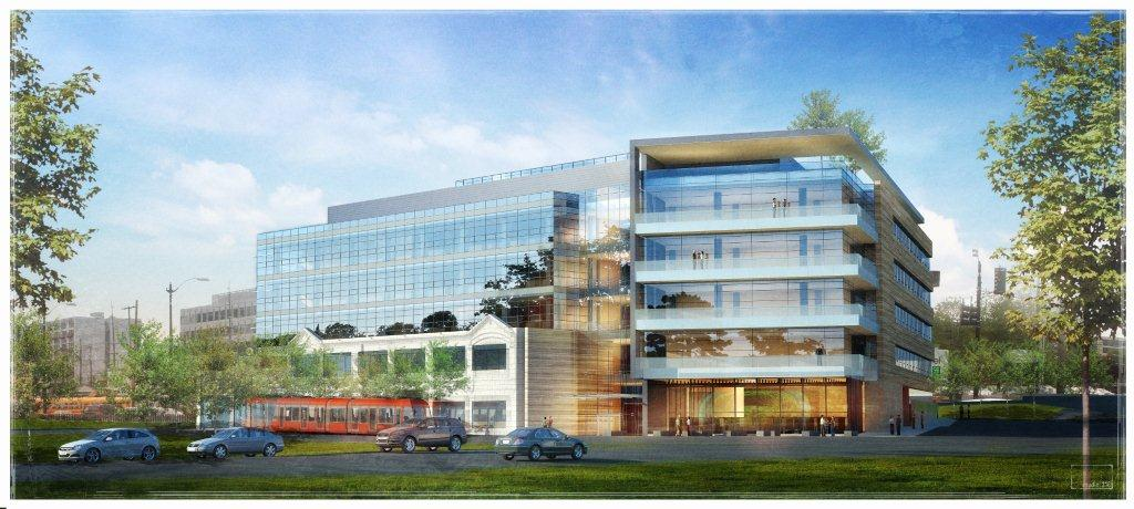 Rendering of the new headquarters for the Allen Institute for Brain Science. Via Perkins+Will