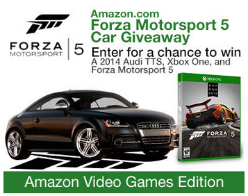 Amazon Giving Away K Audi Sports Car As Part Of Xbox One - Audi car giveaway
